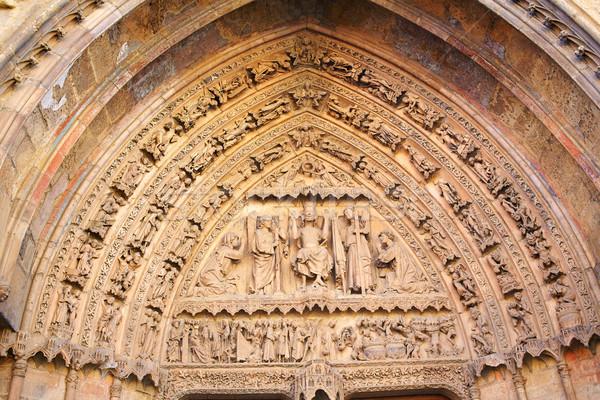 Katedrális gótikus ív Spanyolország ajtó épület Stock fotó © lunamarina