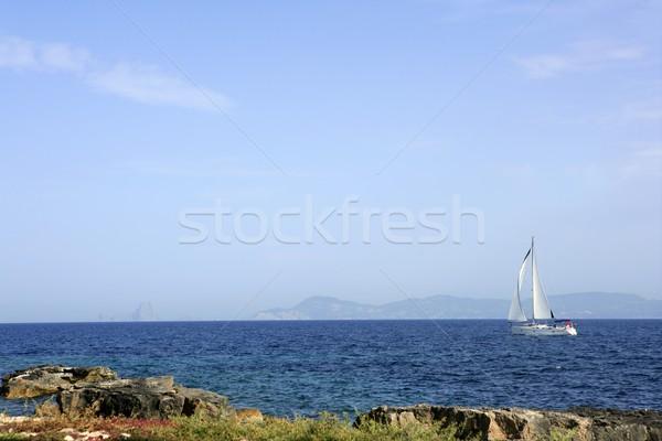 Formentera Mediterranean seascape turquoise sea Stock photo © lunamarina