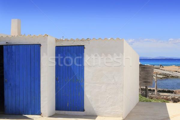 white houses Es Calo port Formentera Stock photo © lunamarina