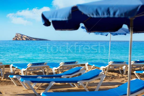 Sziget mediterrán város tájkép tenger háttér Stock fotó © lunamarina
