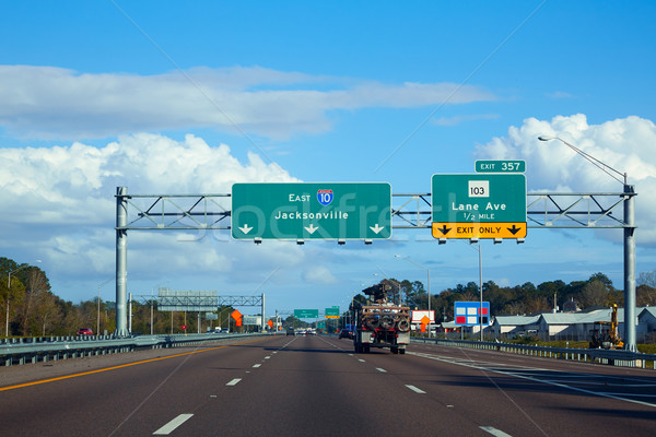 Interstate Florida USA verkeer auto weg Stockfoto © lunamarina