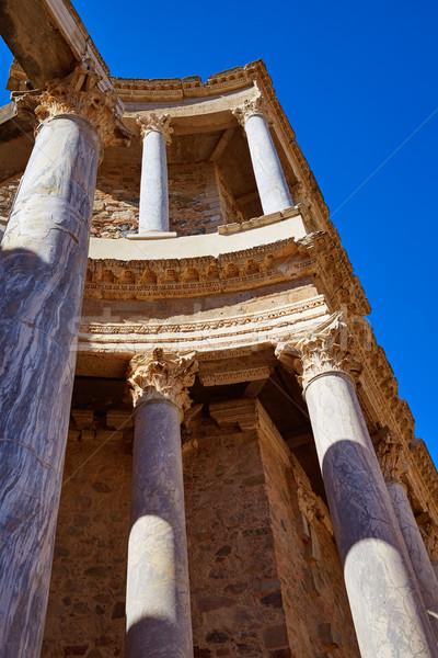 римской амфитеатр Испания здании город Сток-фото © lunamarina
