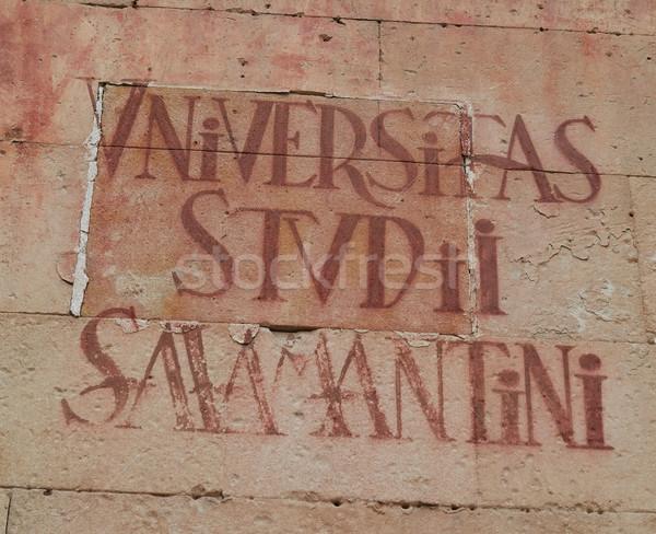 Universidad de Salamanca University sign Spain Stock photo © lunamarina