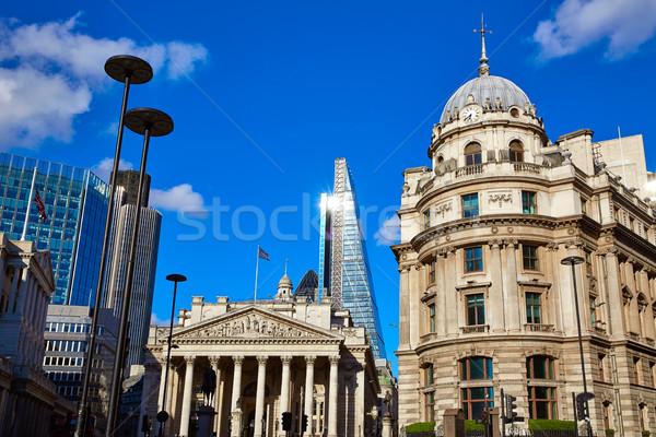 Лондон королевский обмена здании Финансовый район небе Сток-фото © lunamarina