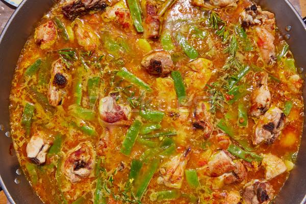 Spanyolország recept folyamat húsleves lépés nyúl Stock fotó © lunamarina