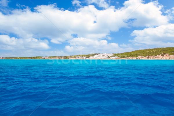 Formentera south Els Arenals Platja de Migjorn Stock photo © lunamarina