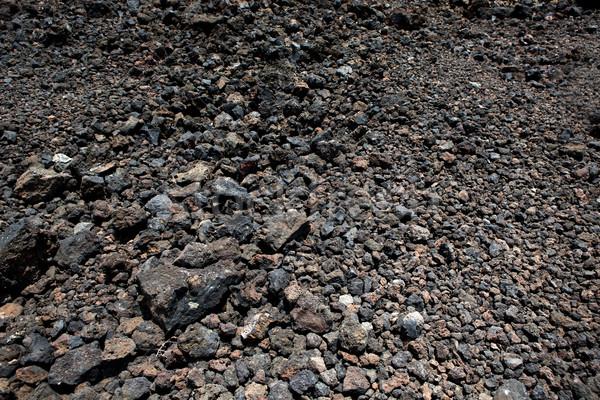 Fekete vulkáni kövek föld textúra természet Stock fotó © lunamarina