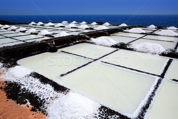 La Palma Salinas de fuencaliente saltworks Stock photo © lunamarina