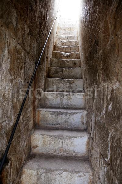 лестница свет метафора небо белый вверх Сток-фото © lunamarina
