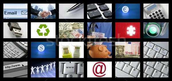 Futuristic Digital Age TV and Channels Background Stock photo © lunamarina
