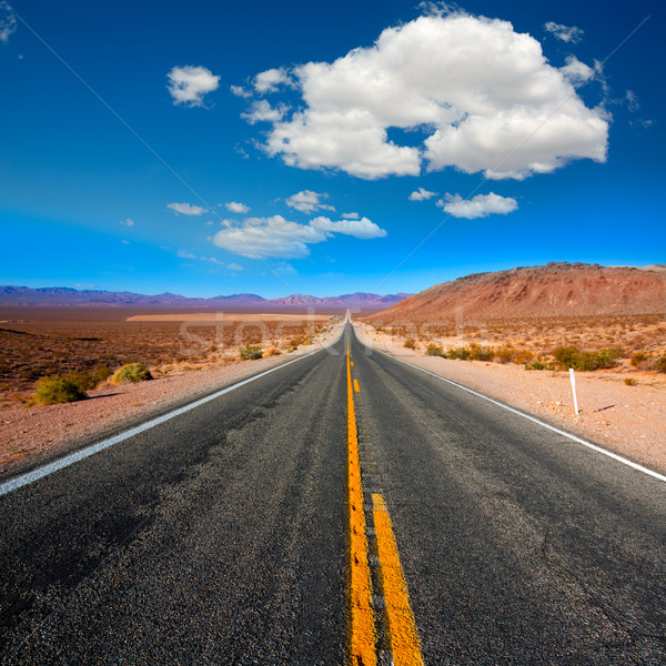 Never ending road to Death Valley California Stock photo © lunamarina