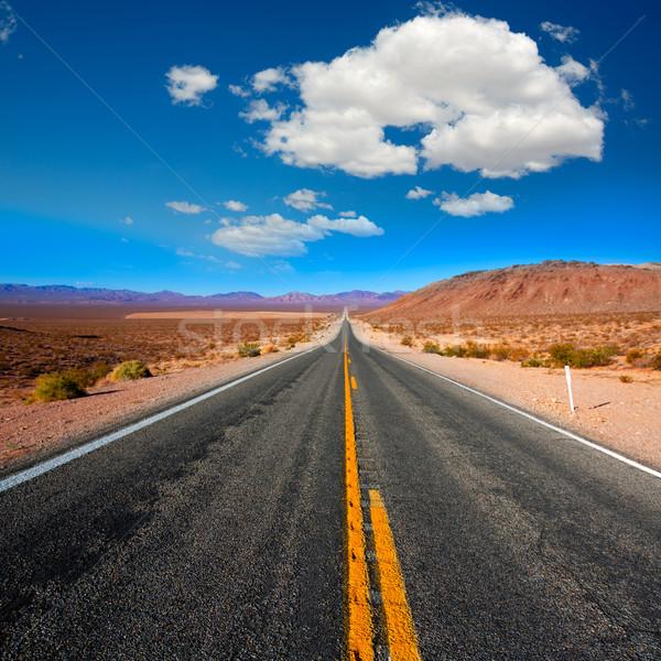 Nigdy drogowego śmierci dolinie California słoneczny Zdjęcia stock © lunamarina