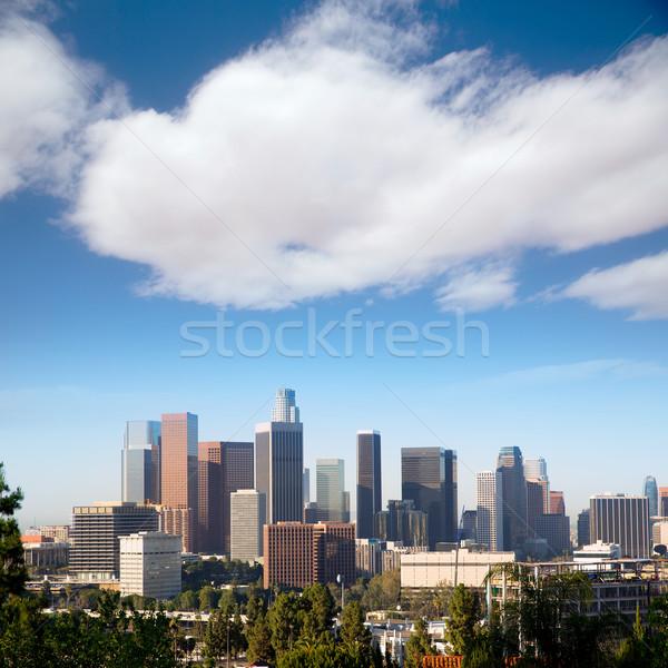 Downtown LA Los Angeles skyline California Stock photo © lunamarina