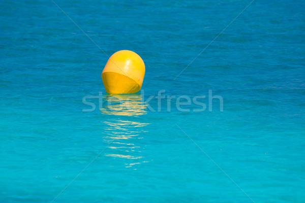 желтый буй Средиземное море бирюзовый морем Сток-фото © lunamarina