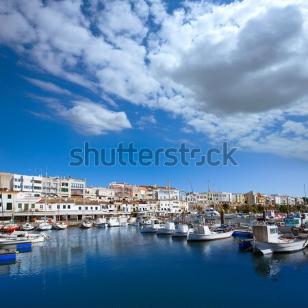 Marina kikötő hajók szigetek kilátás tengerpart Stock fotó © lunamarina