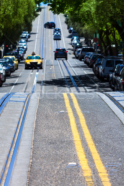 Stock photo: San Francisco Hyde Street Nob Hill in California