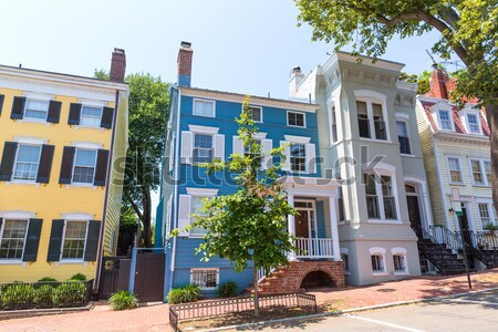 Georgetown historical district facades Washington Stock photo © lunamarina
