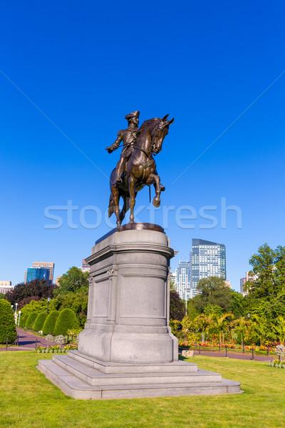 Boston Washington-emlékmű Massachusetts USA ló háború Stock fotó © lunamarina