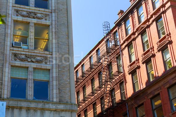 Сток-фото: Бостон · Массачусетс · центра · Cityscape · США · небе