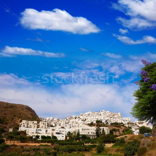 Mojacar in Almeria village skyline in Spain Stock photo © lunamarina
