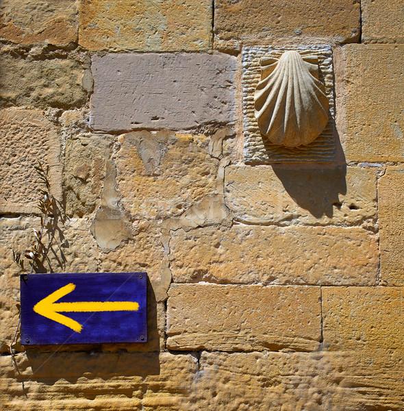 út szent felirat LA nyíl kagyló Stock fotó © lunamarina