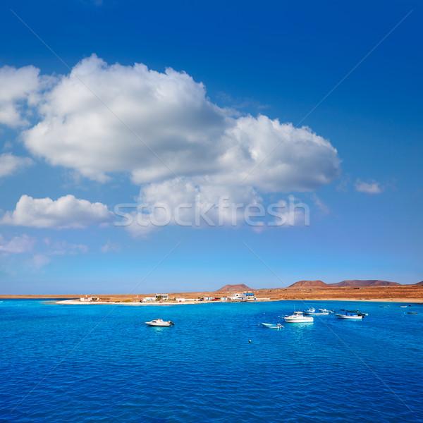 Канарские острова деревне Испания пляж пейзаж морем Сток-фото © lunamarina