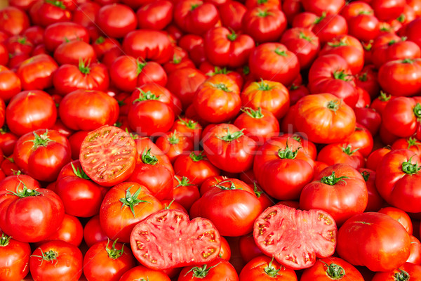 Tomatoes from Mediterranean stacked Stock photo © lunamarina