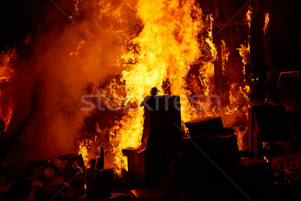 Fallas popular fest burning cartoon figures Stock photo © lunamarina
