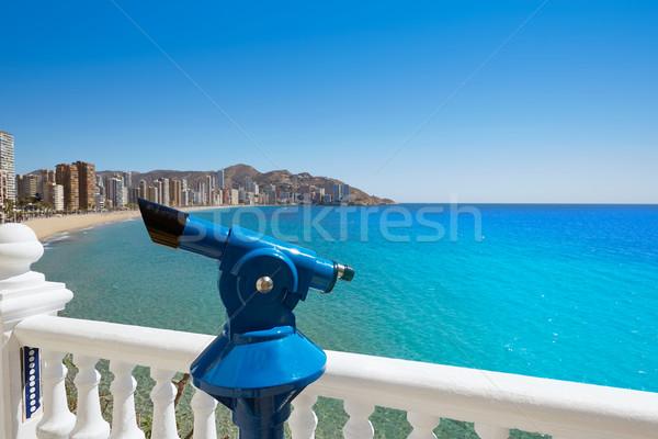 Tengerpart mediterrán Spanyolország égbolt víz város Stock fotó © lunamarina