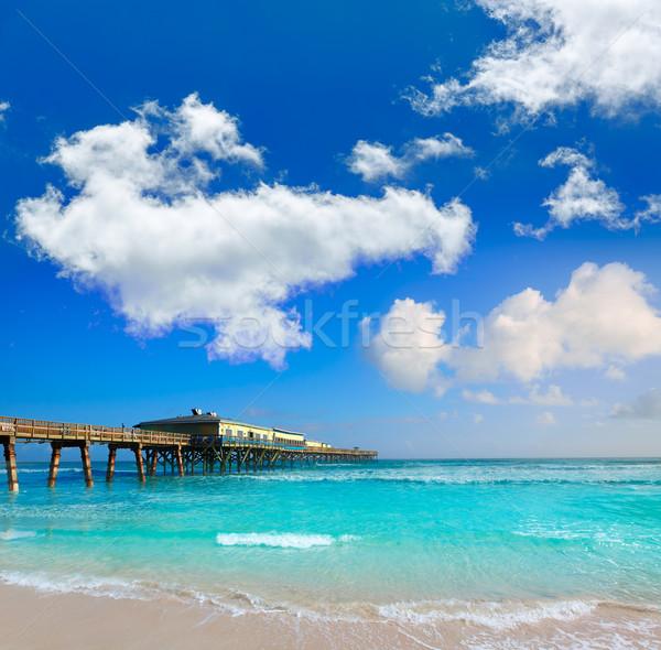 Praia Flórida pier EUA costa água Foto stock © lunamarina