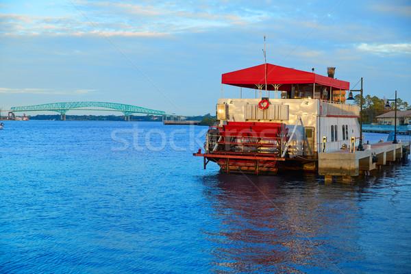 Steamboat in Jacksonville Florida USA at sunset Stock photo © lunamarina