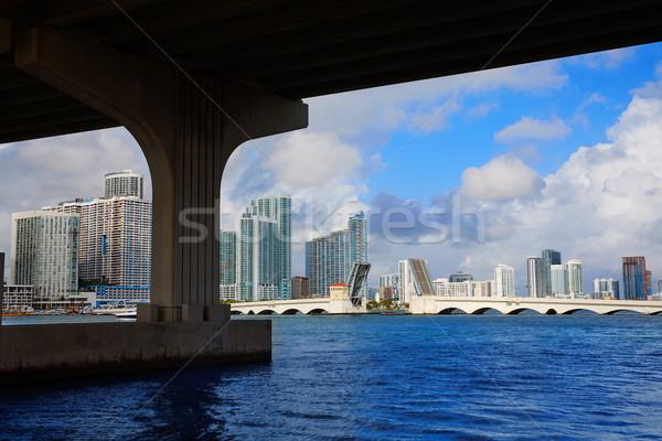 Майами центра Skyline моста Флорида США Сток-фото © lunamarina