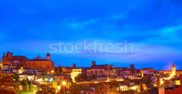 Horizonte España puesta de sol edificio ciudad Foto stock © lunamarina