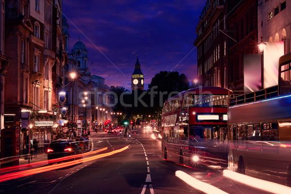 Лондон большой Бен квадратный движения светофор закат Сток-фото © lunamarina