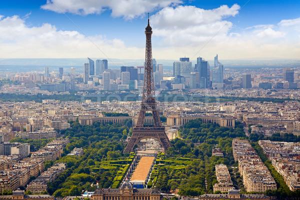 Paris Eyfel Kulesi ufuk çizgisi Fransa Stok fotoğraf © lunamarina