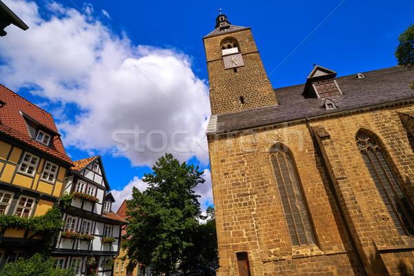 Germania città cielo strada chiesa blu Foto d'archivio © lunamarina
