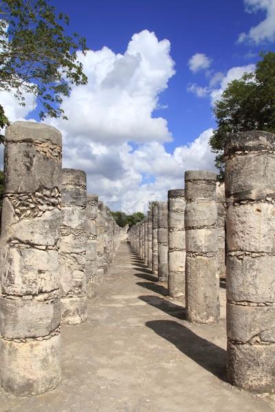 колонн Чичен-Ица Мексика руин тысяча Сток-фото © lunamarina