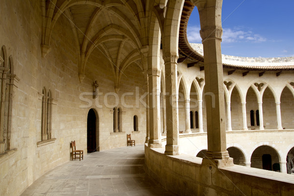 Castle Castillo de Bellver in Majorca at Palma of Mallorca Stock photo © lunamarina