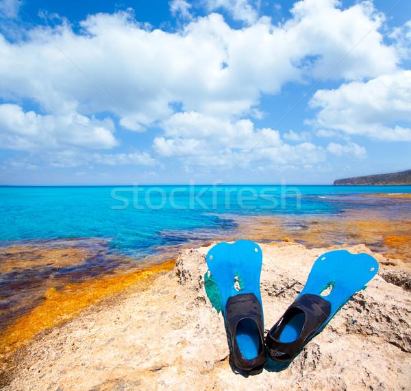 Sziget mélyvizi búvárkodás kék tengerpart víz nap Stock fotó © lunamarina