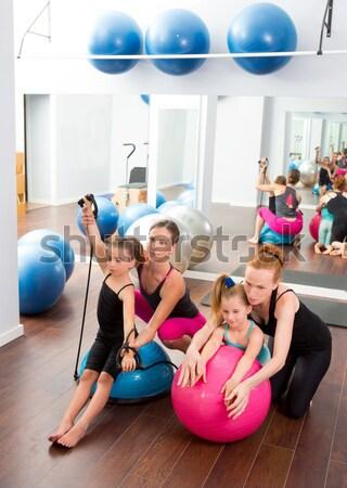 Aerobik pilates nők csoport stabilitás labda Stock fotó © lunamarina