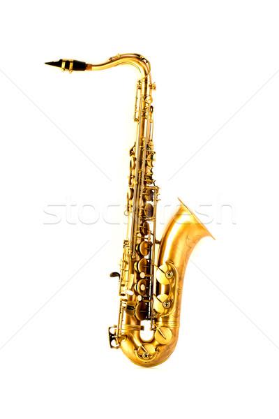 Tenor sax golden saxophone isolated on white Stock photo © lunamarina