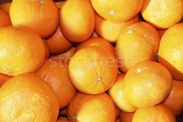 Narancsok mediterrán piac mandarin természet egészség Stock fotó © lunamarina