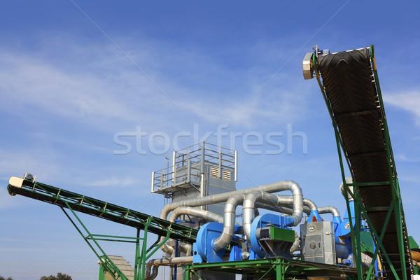 Maszyn otwarte niebo instalacja górskich niebieski Zdjęcia stock © lunamarina