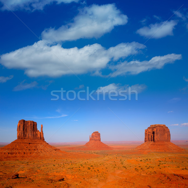 Monument Valley West and East Mittens and Merrick Butte Stock photo © lunamarina