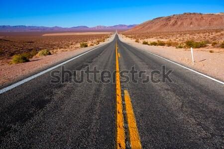 Nunca carretera muerte valle California soleado Foto stock © lunamarina