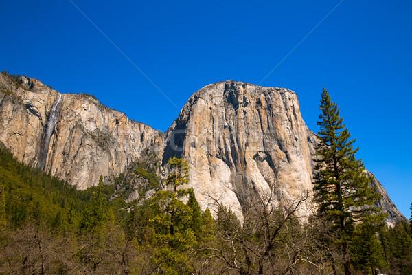 Parque nacional de yosemite California EUA cielo árbol montana Foto stock © lunamarina