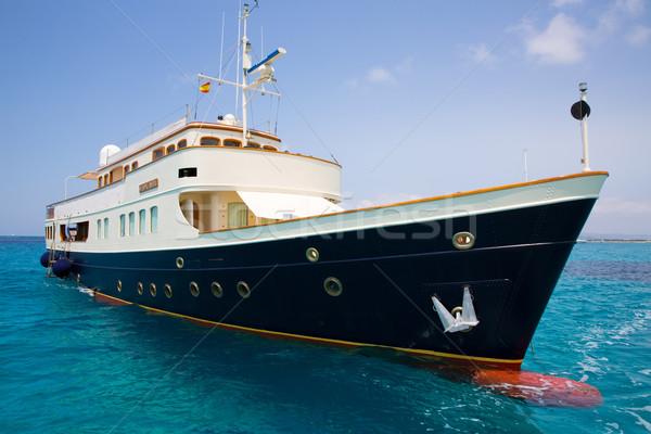 Illetes Illetas Formentera yacht anchored Stock photo © lunamarina