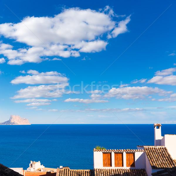 öreg falu fehér tipikus mediterrán tavasz Stock fotó © lunamarina