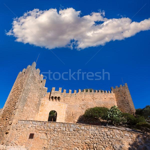 Castelo mallorca ilha Espanha edifício verão Foto stock © lunamarina