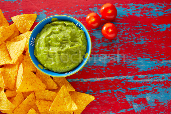 Nachos rouge grunge alimentaire restaurant Photo stock © lunamarina